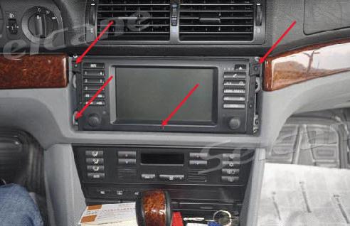 1996-2003 BMW 5 Series E39 bluetooth dvd navigation system