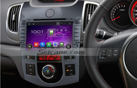 2008-2012 KIA CERATO (AT) gps Bluetooth car radio installation | car