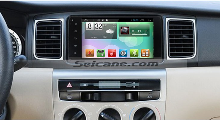 2005-2010 Toyota Fortuner Car Radio after installation
