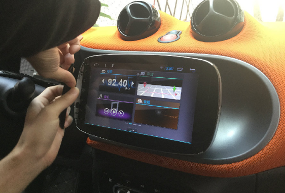 2015 2016 Mercedes-Benz SMART Car Sound System installation | car