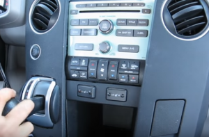 Start by moving shift lever into lower position