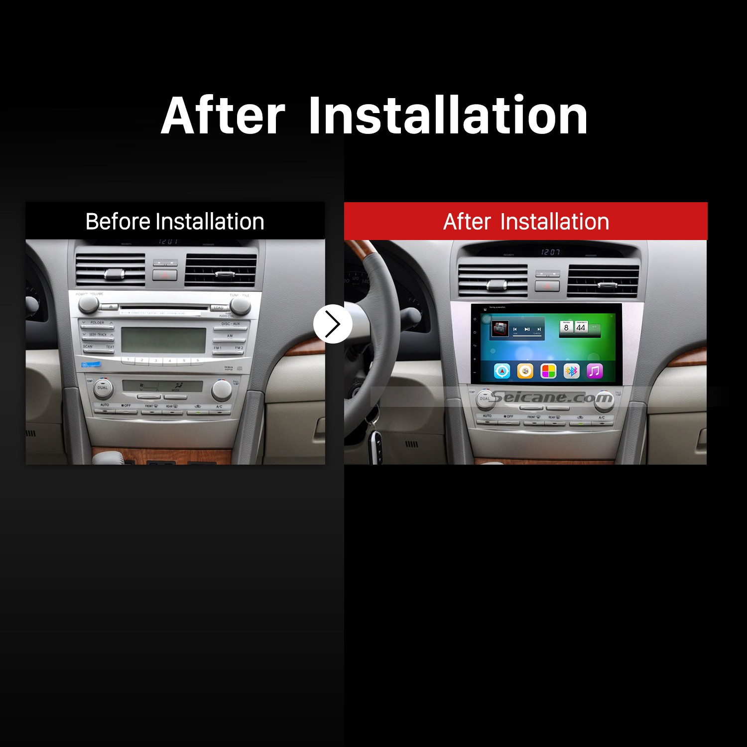 2007-2011 Toyota CAMRY Head Unit after installation