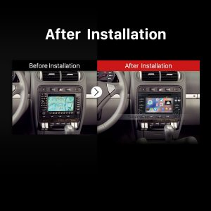 2003-2011 Porsche Cayenne gps dvd car stereo after installation