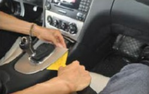 First detach the gear shift panel
