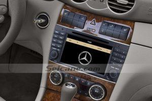 2004-2011 Mercedes Benz CLK W209 CLK270 CLK320 CLK350 CLK500 CLK550 car stereo after installation