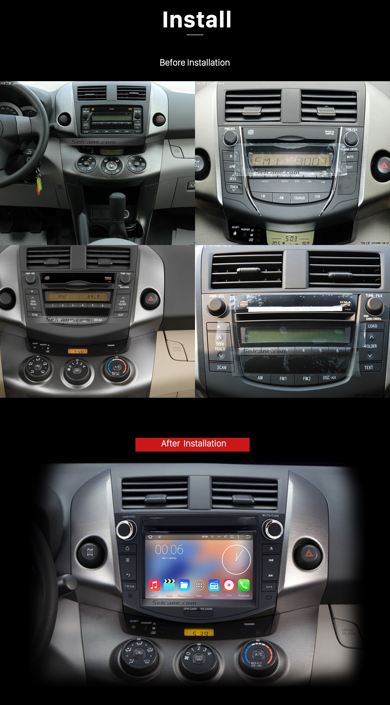 2006-2012 TOYOTA RAV4 Car Radio installation | car dvd player blog ...