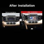 2013-2016 Toyota RAV4 car radio after installation