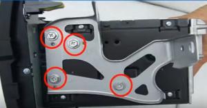 Remove 8 screws from original car radio