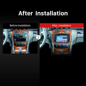 2000-2005 Mercedes Benz C Class W203 C180 C200 C220 C230 C240 C270 C280 Car Radio after installation