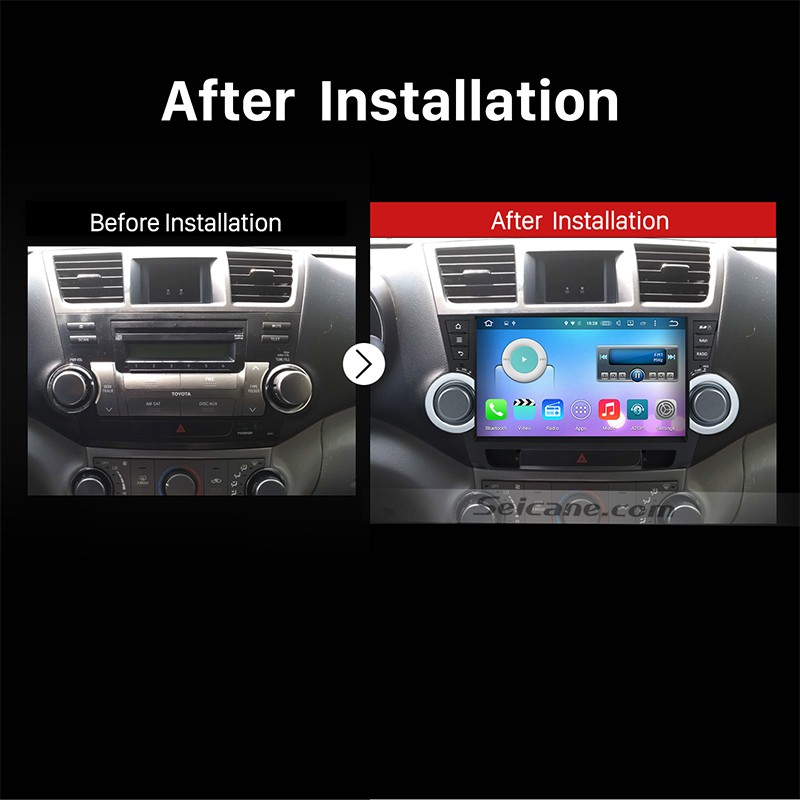 2008 2017 Toyota Highlander Gps Bluetooth Car Radio After Installation