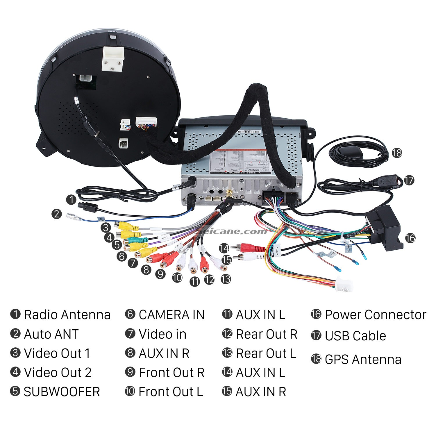 16. Connect the harnesses to the back of the new Seicane stereo 2006 2013 BMW Mini Cooper GPS Bluetooth Car Stereo 2006 2013 bmw mini cooper gps bluetooth car stereo removal and Mini Cooper Transmission Wiring Harness at aneh.co