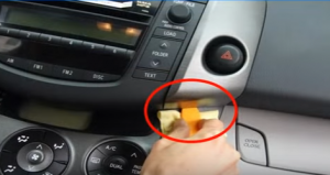 Remove the panel by using plastic removal tool