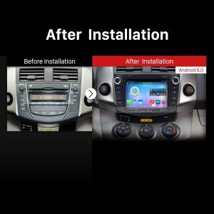 2006-2012 TOYOTA RAV4 Car Radio after installation