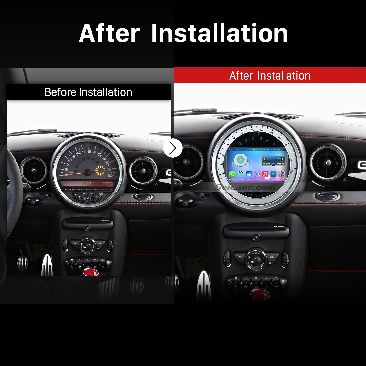 2006 2017 Bmw Mini Cooper Gps Bluetooth Car Stereo After Installation