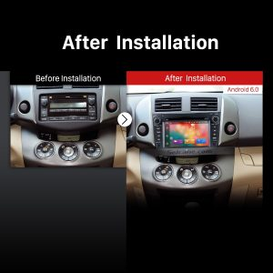 2006 2007 2008 2009 2010 2011 2012 Toyota Rav4 GPS Bluetooth DVD Car Radio after installation