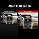 2008 2009 2010 2011 2012-2014 Mercedes Benz GLK X204 GPS Bluetooth Car Radio after installation
