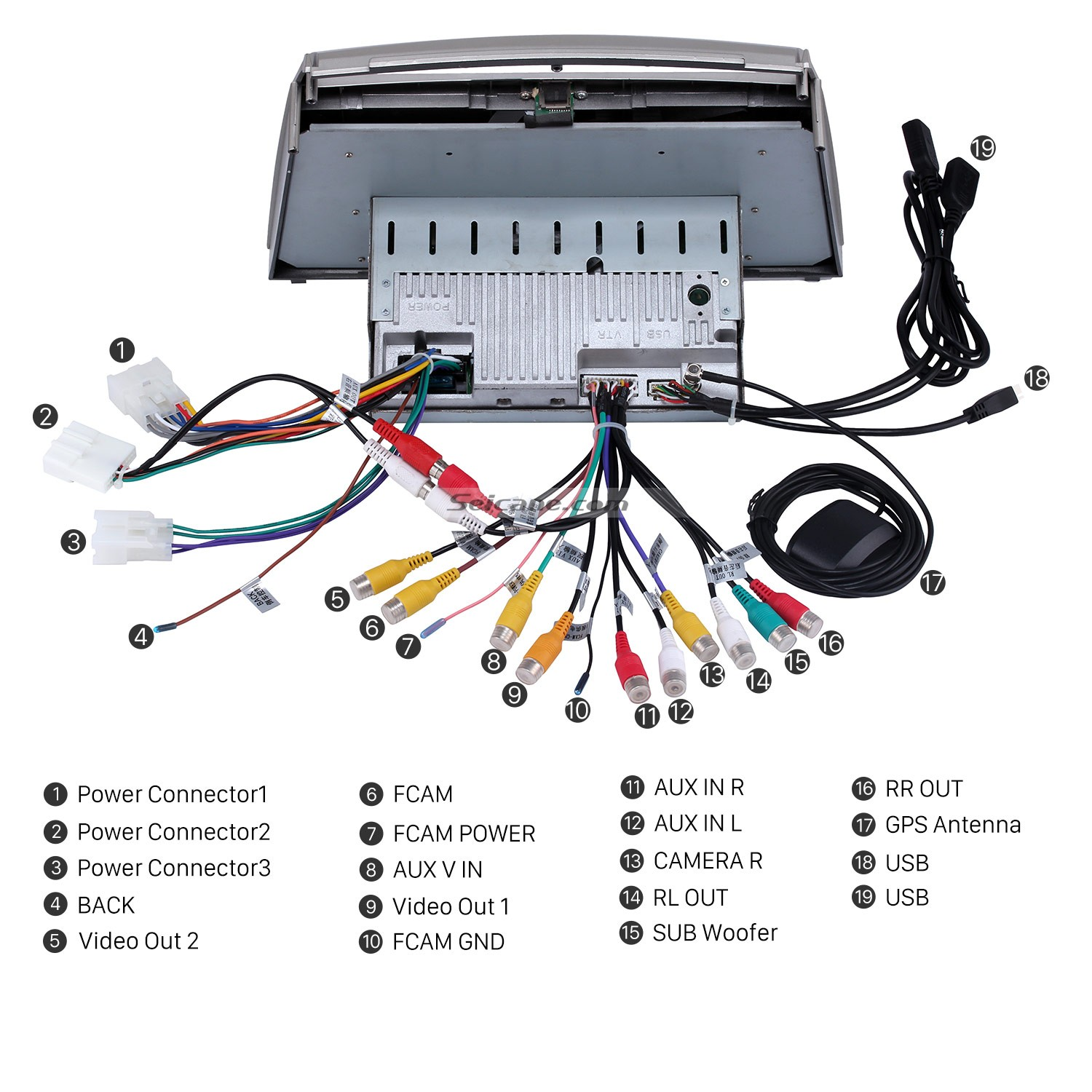 2006 2007 2008 2009 2010 Toyota Camry Gps Bluetooth Car Radio Electrical Wiring Diagram Manual Connect The Harnesses To Back Of New Seicane