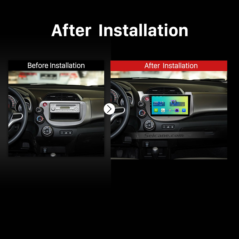 2007 2008 2009 2010 2011-2013 Honda Fit Car Radio after installation