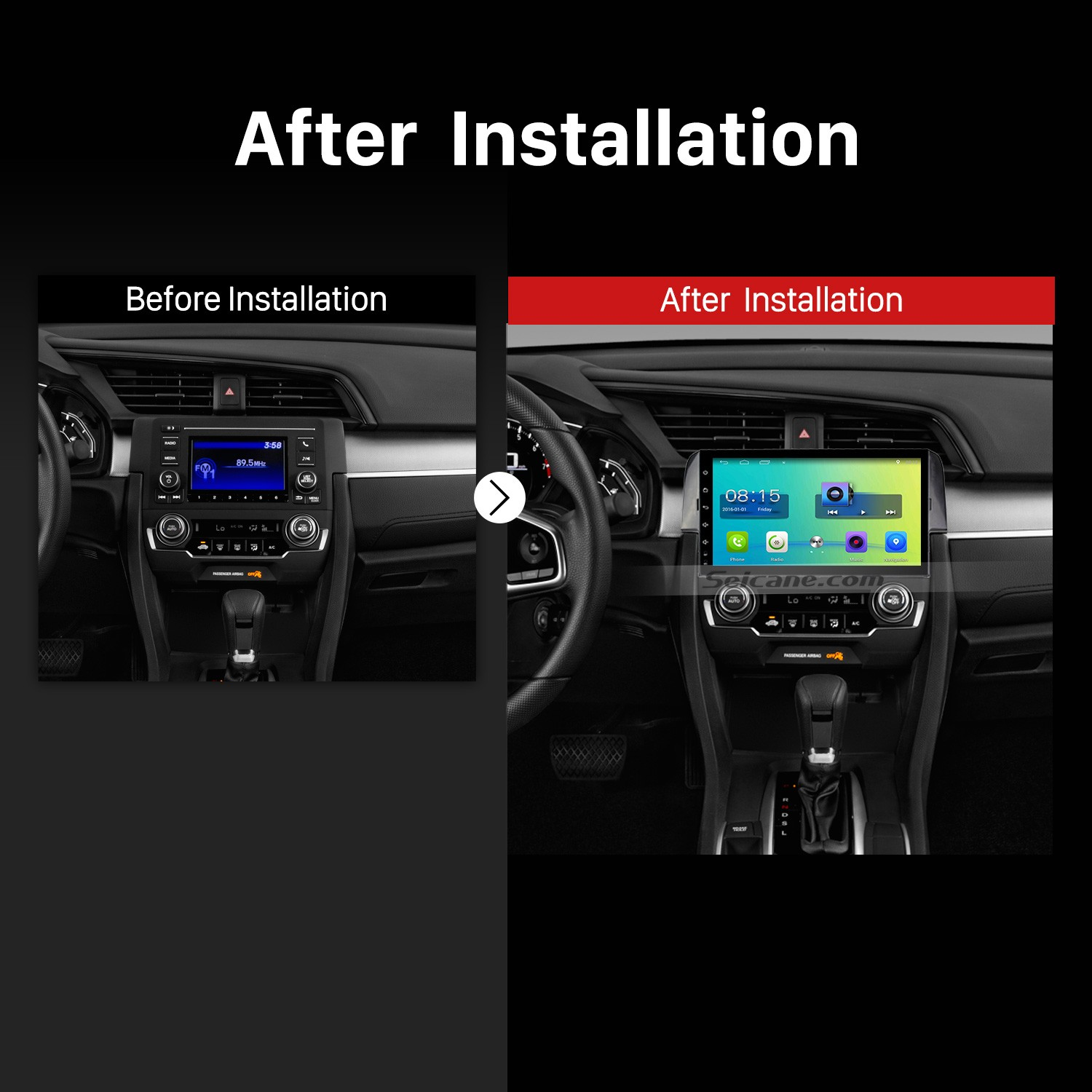2016 HONDA CIVIC Car Radio after installation