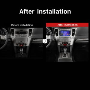 2008 2009 2010 2011 2012-2013 SUBARU OUTBACK Car Radio after installation