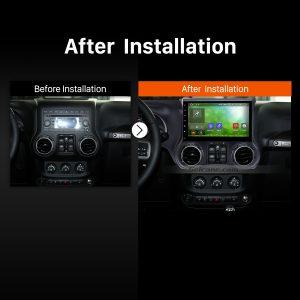 2008 2009 2010 2011 2012-2017 JEEP WranglerCar Radio after installation