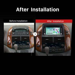 2004 2005 2006 2007 2008-2010 Toyota Sienna Car Radio after installation