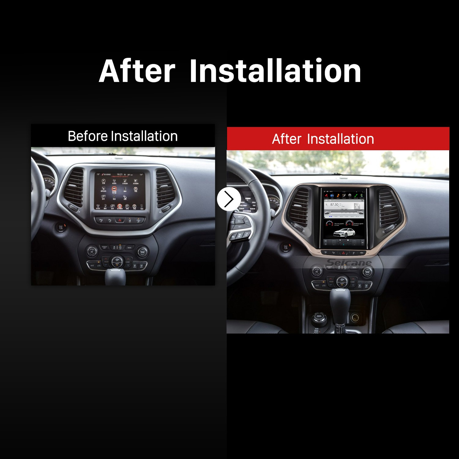 2017 2016 Jeep Grand Cherokee Car Radio After Installation