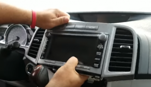 Gently take out the original car radio