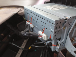 Gently pull the original car radio out of the dash and then disconnect the wiring from the original car radio. Then put the original car radio aside