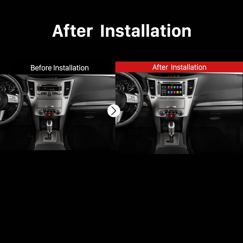 2009 2010 2011 2012 2013 Subaru outback GPS Car Radio after installation