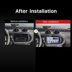 2015 2016 Mercedes-Benz SMART GPS Bluetooth Car Radio after installation