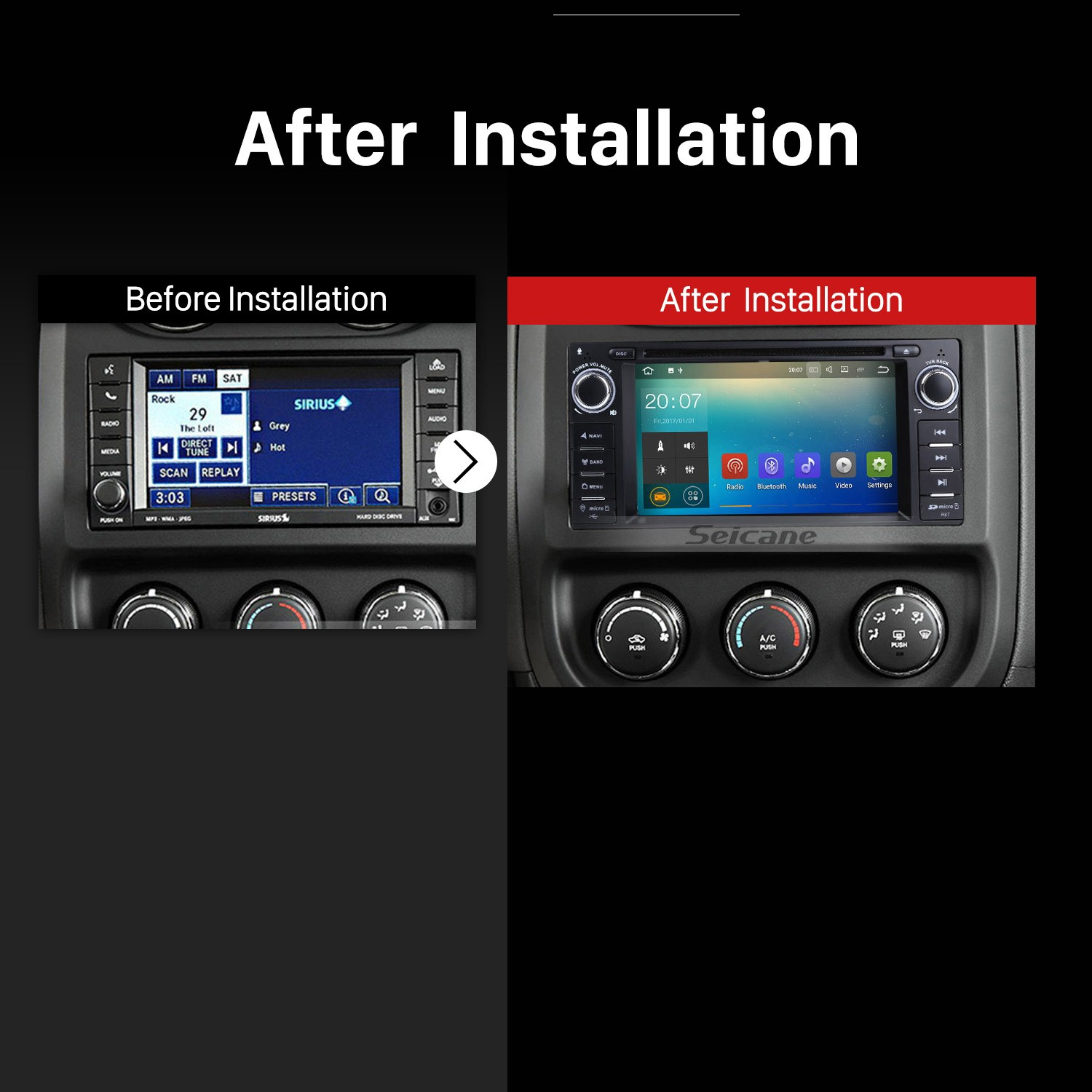 2008 2009 2010 Jeep Commander Car Radio after installation
