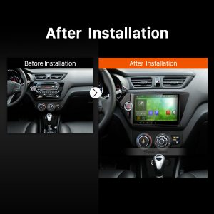 2011 2012 KIA K2 RIO Car Radio after installation
