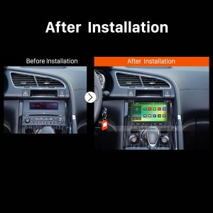 2008 2009 2010 2011 2012-2013 PEUGEOT 3008 Car Stereo after installation
