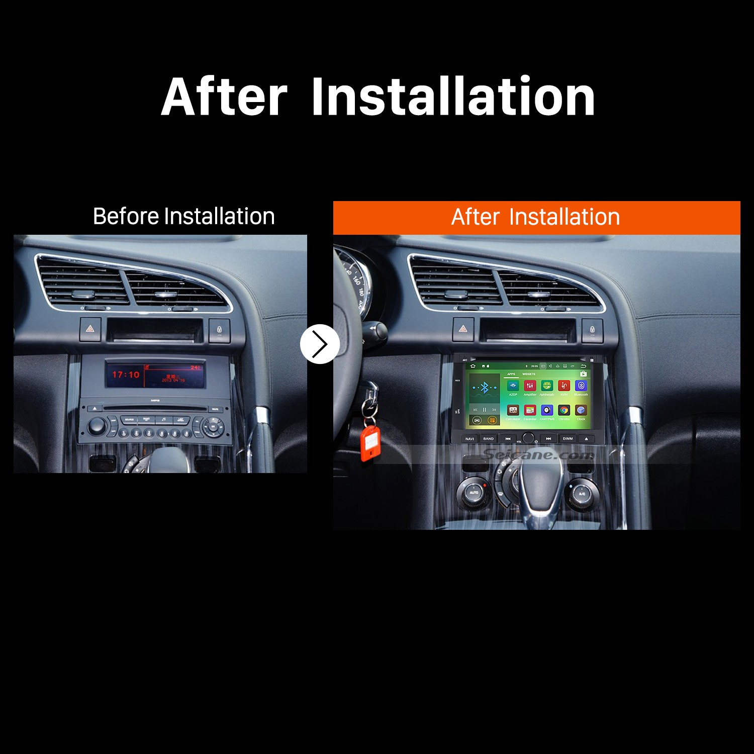 2008 2009 2010 2011 2012-2013 PEUGEOT 3008 Car Stereo installation