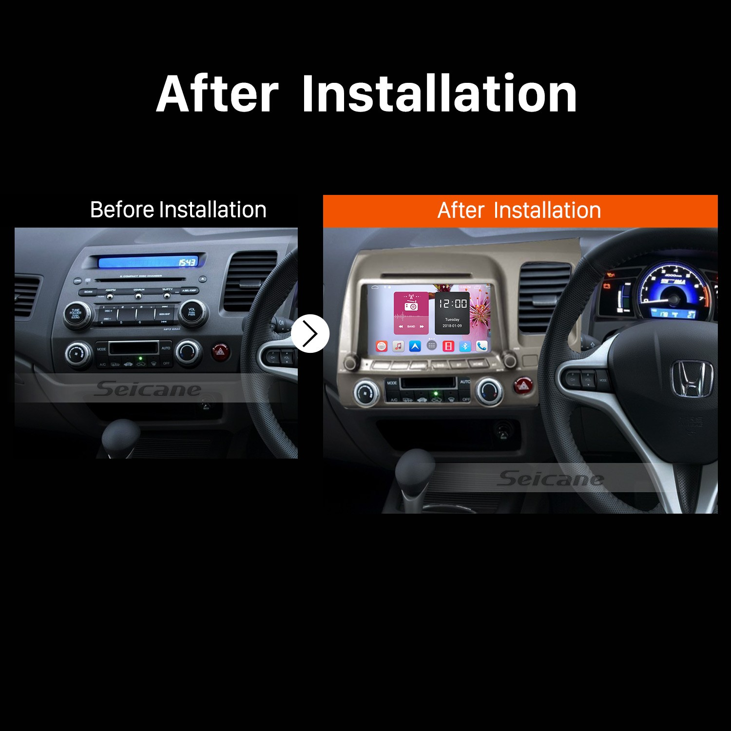 2008 2009 2010 2017 Honda Civic Rhd Gps Bluetooth Dvd Car Radio After Installation