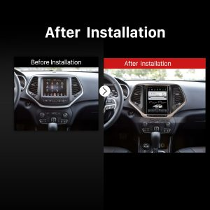 2014 2015 2016 2017 Jeep Grand Cherokee Car Radio after installation