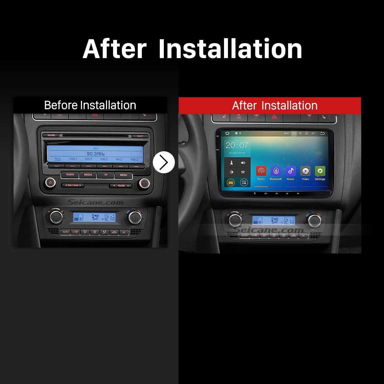 2005 2006 2007 2008-2011 Seat Leon Car Radio after installation