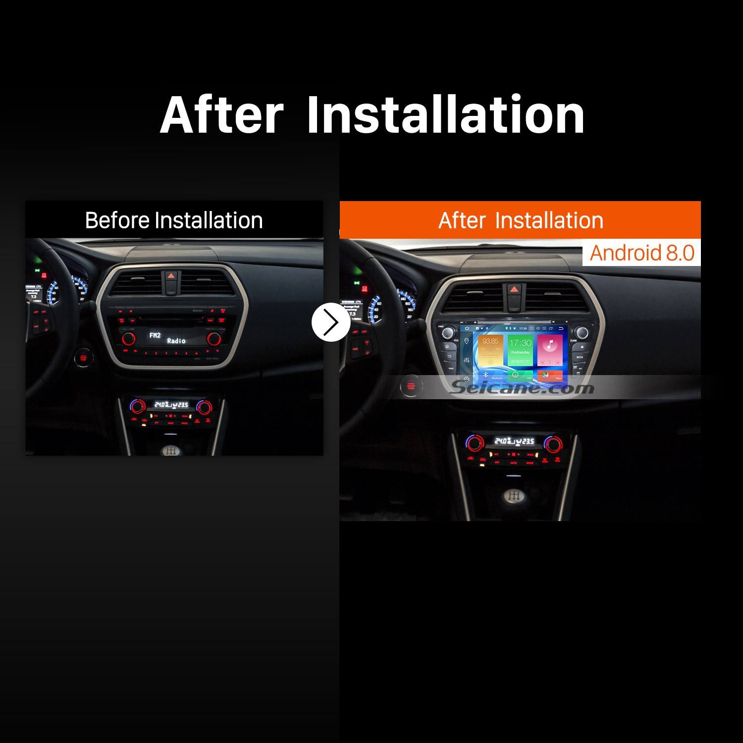 2013 2014 2015 Suzuki S-Cross SX4 Car Radio after installation