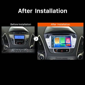 2009 2010 2011 2012-2015 Hyundai IX35 Car Radio after installation