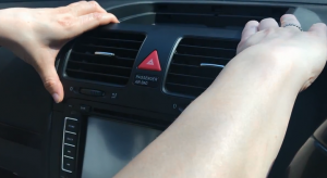 Gently pull out the air vent and disconnect the connectors carefully. Please use a trim removal tool if necessary