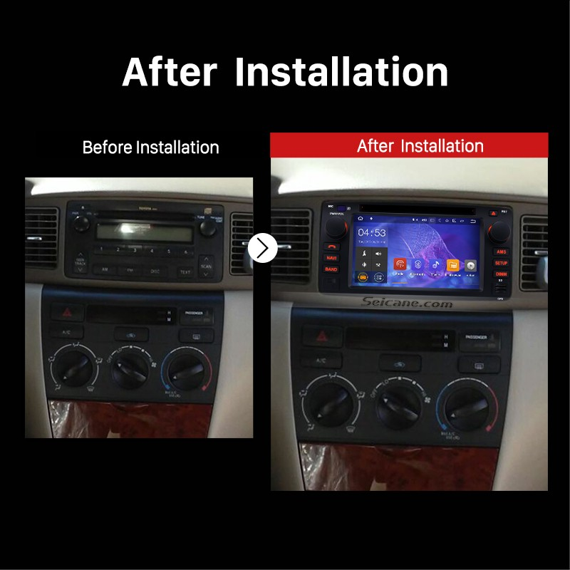 2007 toyota corolla stereo removal