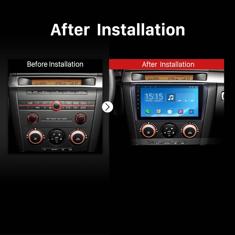 2004 2005 2006 2007 2009 Mazda 3 Radio After Installation