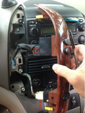 Toyota sienna car dvd player blog seicane disconnect the wiring from the side panels there are two wiring connectors on the left greentooth Choice Image