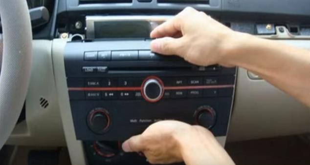 2004 2005 2006 2007-2009 Mazda 3 Radio Removal   car dvd