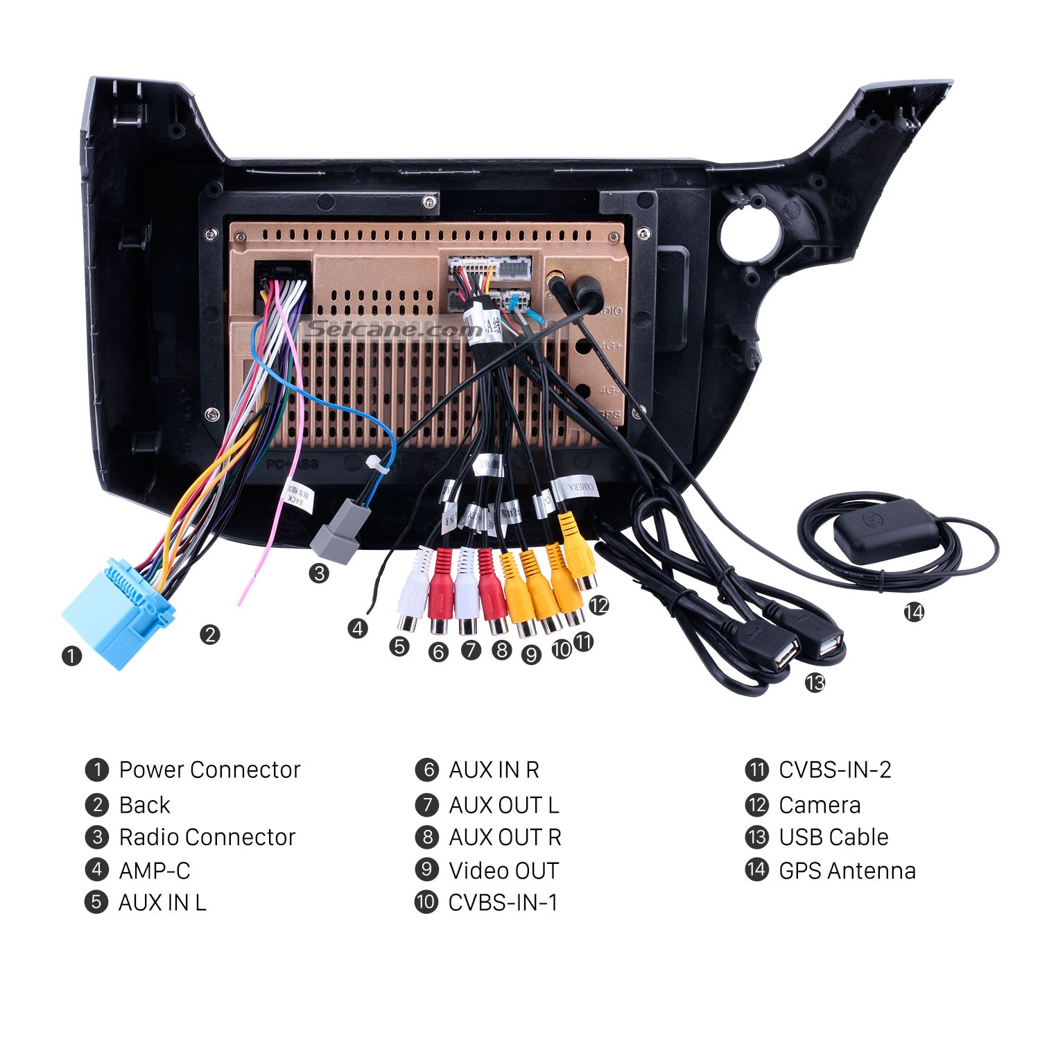 2007 2008 2009 2010 2013 Honda Fit Car Stereo Installation Dvd Wire Harness Mini Cooper 06 2006 Radio Wiring Connect The Harnesses To Back Of New Seicane