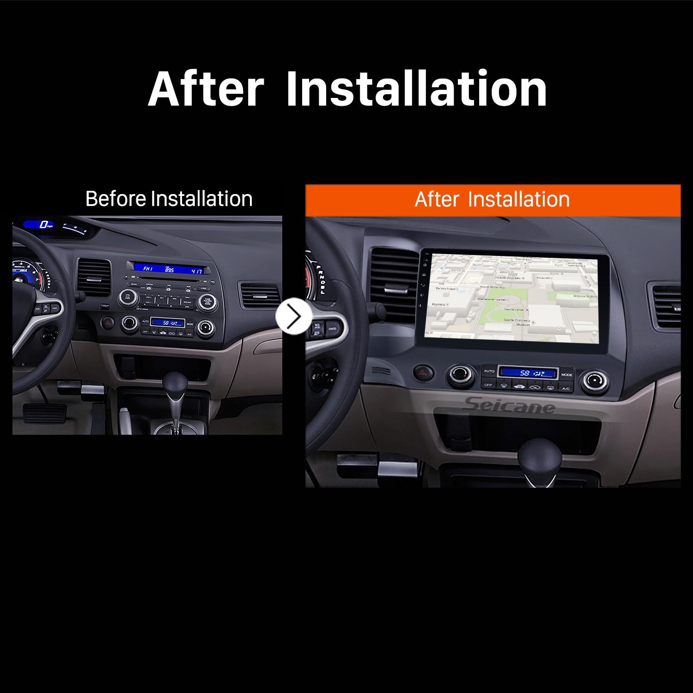 2006 2007 2008 2009-2011 Honda Civic Bluetooth GPS Car Radio after installation