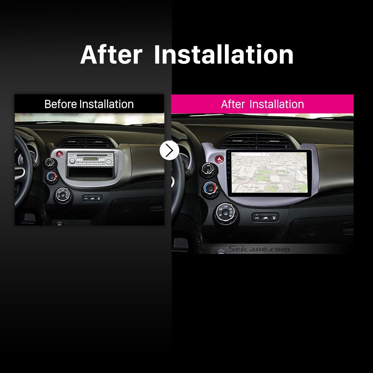 2007 2008 2009 2010-2013 Honda FitCar Stereo after installation