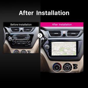 2011 2012 2013 2014-2015 KIA K2 Car Radio after installation