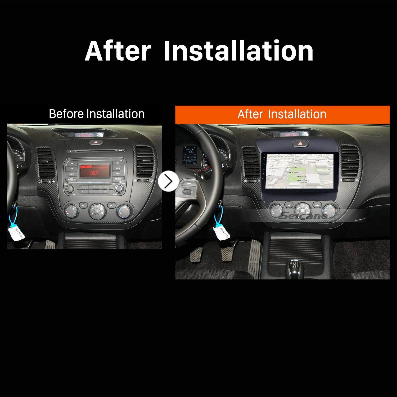 2013 2014 2015 2016 KIA K3Car Stereo after installation
